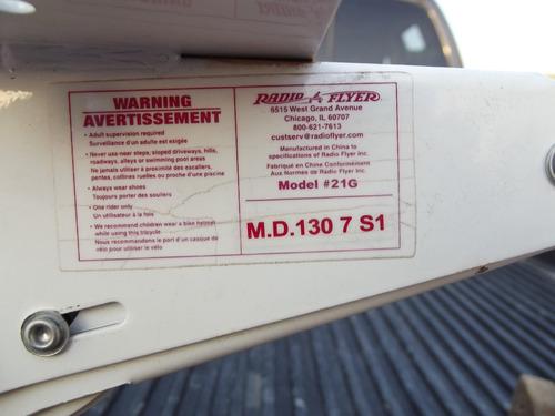 triciclo tipo antiguo metalico colror  rosa radio flyer