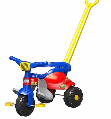 triciclo velotrol infantil azul tico tico