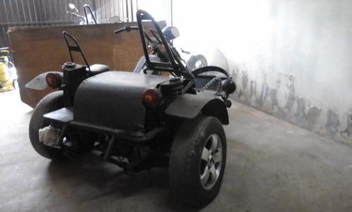 triciclo/chopper com sidecar