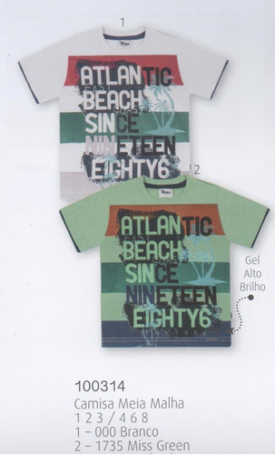 trick nick - camiseta infantil meia malha com estampa 100314