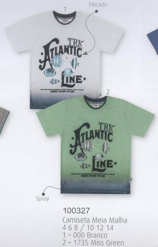 trick nick - camiseta infantil meia malha com estampa 100327
