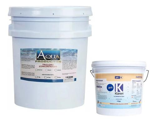tricloro granulado 5kg y ph- klaren 5kg para alberca piscina