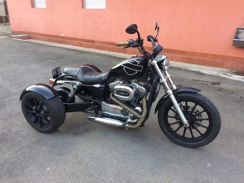 trike sportster 1200 com vários acessórios