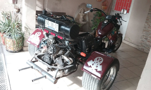 trike, triciclo, three wheeler vw chopper