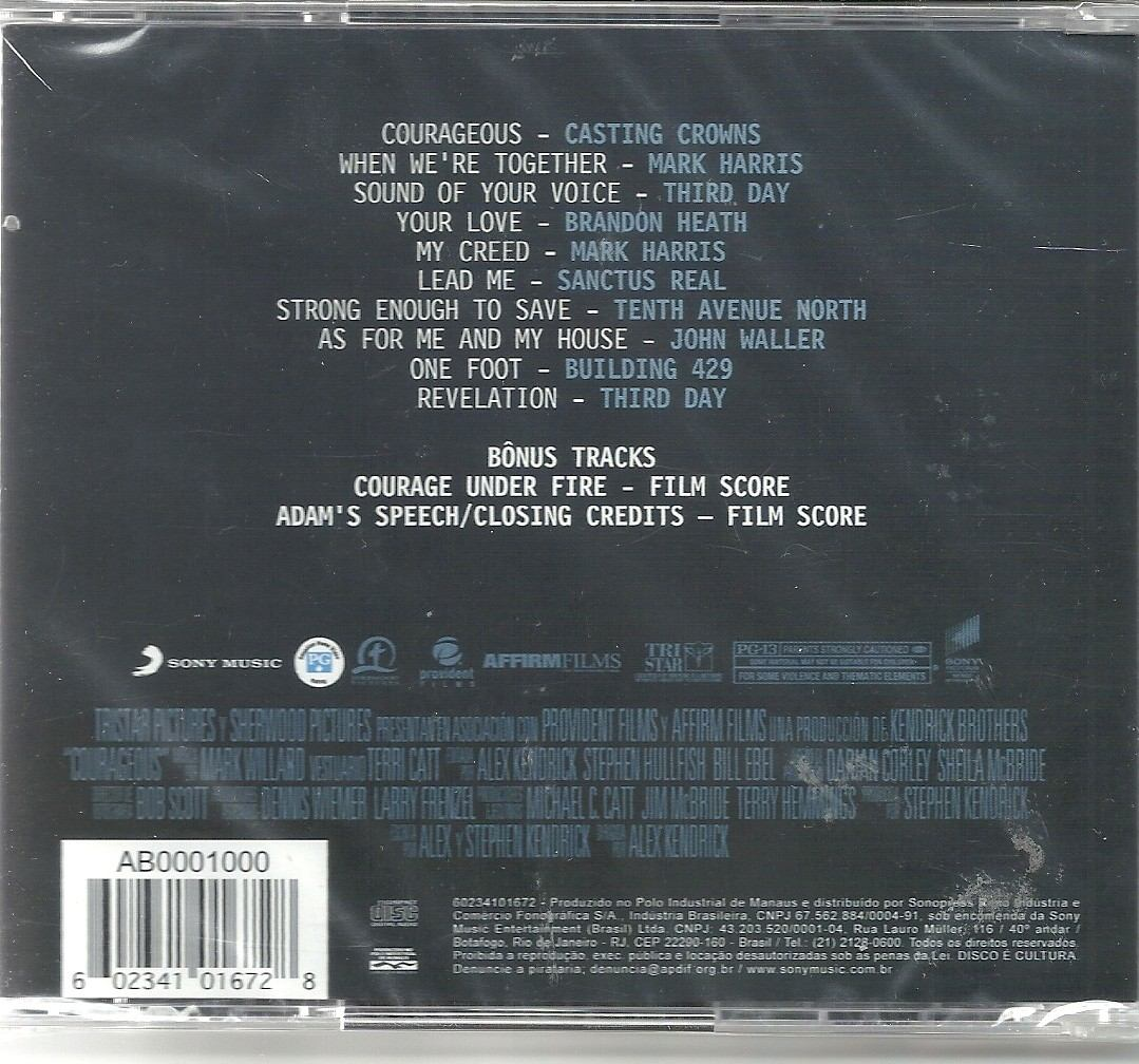 cd trilha sonora do filme corajosos