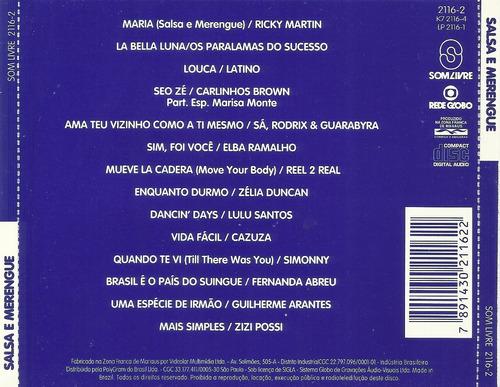 trilha sonora novela salsa e merengue nacional frete grátis