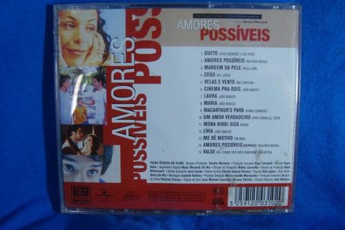 trilha sonora original -  amores possíveis - cd nacional
