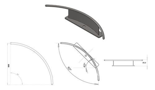 trilho curvo arvorismo aço inox para cabo de 8mm - sideup
