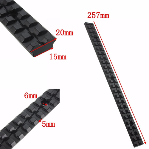 trilho de 20 mm grande de alumínio 25.7 cm mount suporte c1