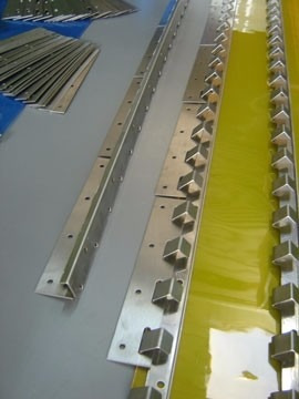 trilho (gancheira) + pendurais para cortina de pvc