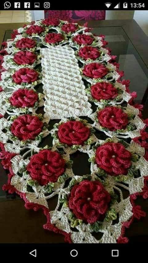 Trilhos De Mesa Em Crochetodos Os Modelos