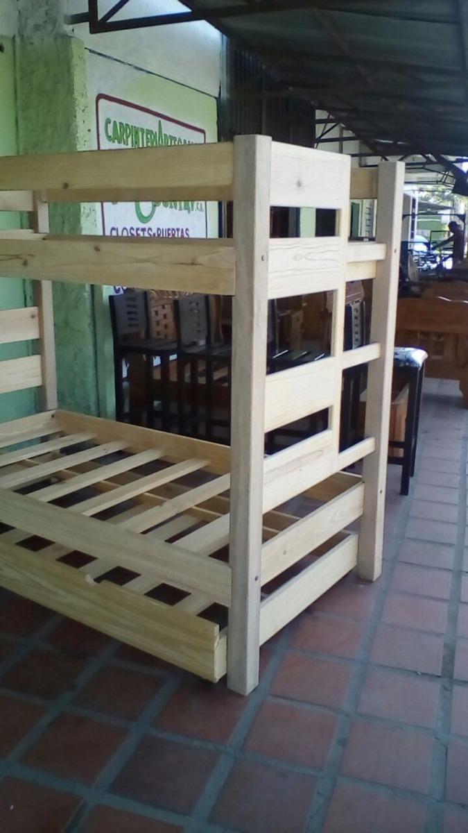 Trilitera litera de pino barnizada al natural buen precio bs en mercado libre - Literas de pino ...