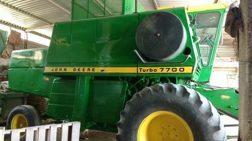 trilladora cosechadora john deere 7700 turbo posible cambio