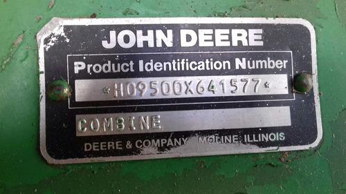 trilladora cosechadora john deere 9500 es el ultimo precio