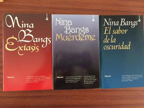 trilogía de erótica paranormal de nina bangs