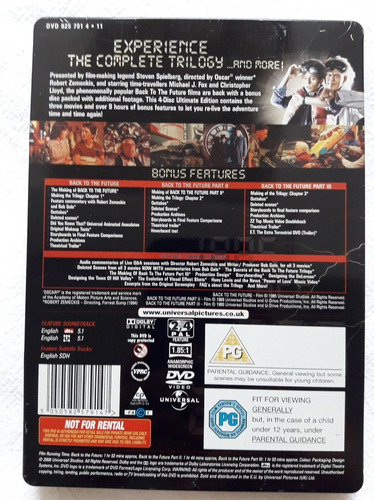 trilogía dvd black to the future original (volver al futuro)