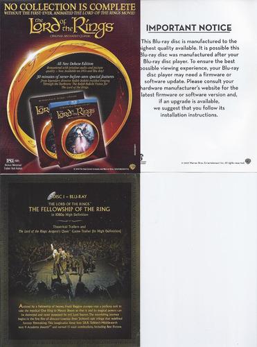 trilogía el señor de los anillos importada blu-ray+dvd 6 dis