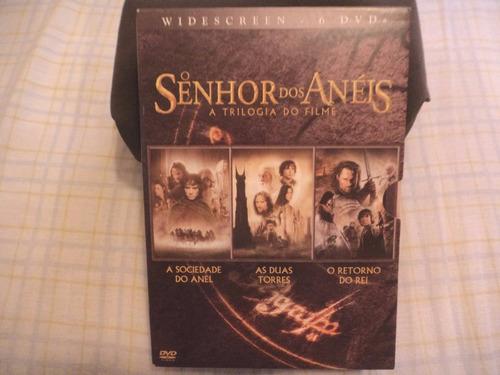 trilogia o senhor dos anéis (6 dvds) original