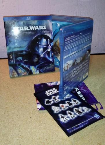 trilogia star wars 3 blu-ray ep. 4 5 y 6 excelentes