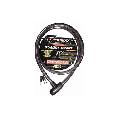 trimax tq2072 trimaflex integrated keyed cable lock (72 long