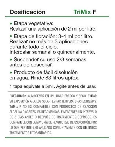 trimix treemix f 45ml - booster flora - anti plagas