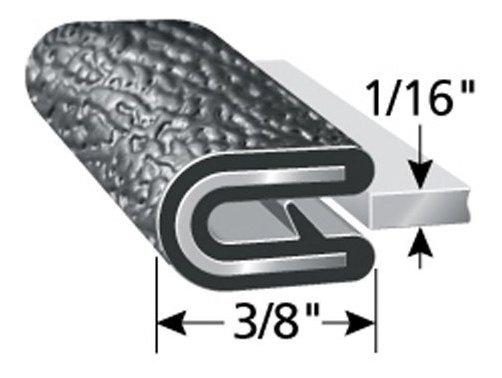 un solo dedo de agarre 14,28 mm de longitud de pierna Protector de borde de pl/ástico PVC flexible para superficies afiladas y rugosas Edge Trim se adapta a 1,58 mm de borde