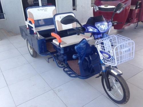 trimoto eléctrico con baterías carga y pasajeros a 12 meses