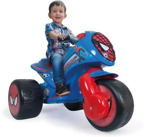 trimoto montable infantil electrico waves spiderman6v injusa