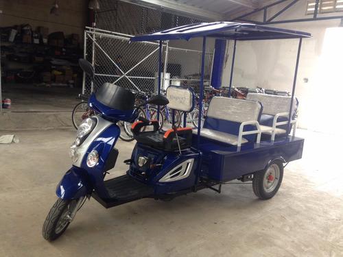 trimoto tipo scooter 4 pasajeros 110cc gasolina promo qmk