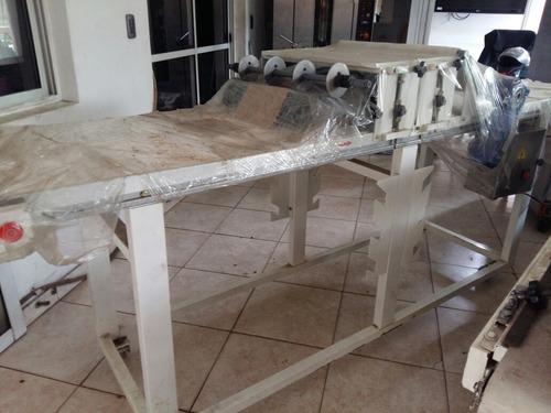 trinchadora argental gta 38 + mesa de corte de mazas de 3mts