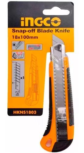 trincheta ingco 18mm soft grip hkns1803 ff
