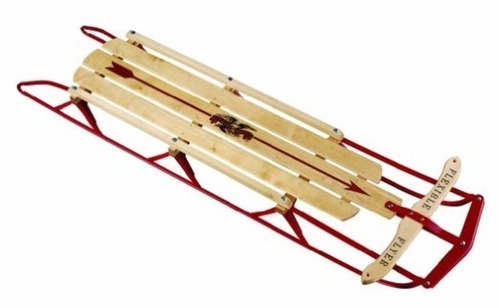 trineo para deportes de invierno flexible flyer 54 steel run