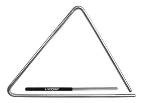 triângulo aço cromado 15cm liverpool