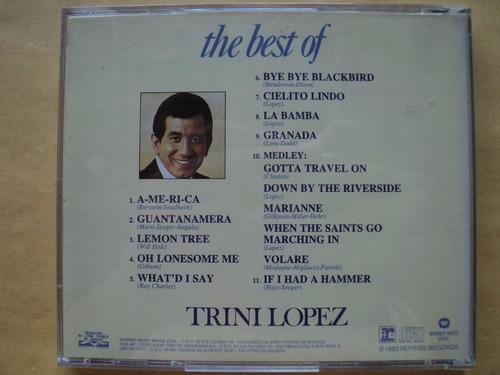 trini lopez- cd the best of- 1993- original- zerado!