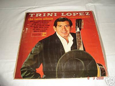 trini lopez - the latin album - lp -  reprise- r 6125 - mono