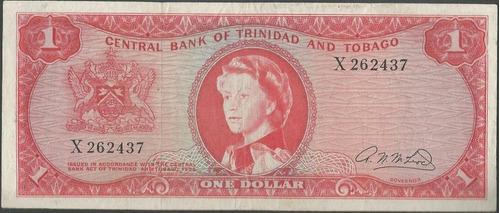trinidad y tobago, 1 dollar l1964 p26b