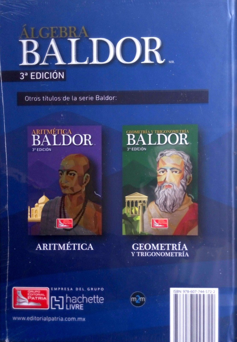 Trio Baldor 3ra Ed Algebra + Geometria + Aritmetica 3