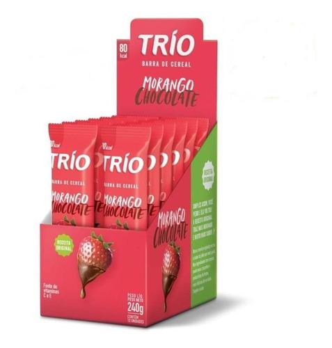 trio barra cereal trad. morango chocolate c/12