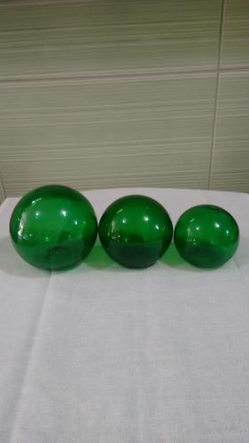 trio de bola lisa na cor verde