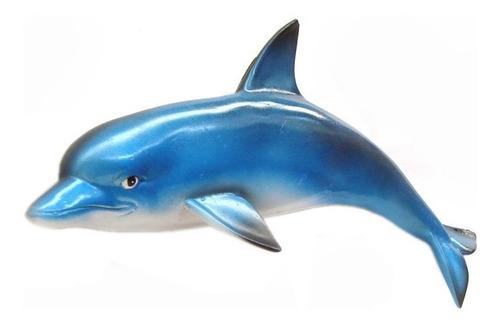 trio de golfinhos p m g decoração em resina de parede.