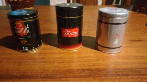 trio de latas decorativas - relógios - frete grátis