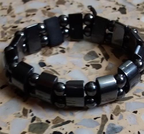 trío de pulseras elásticas de acerina (unisex)