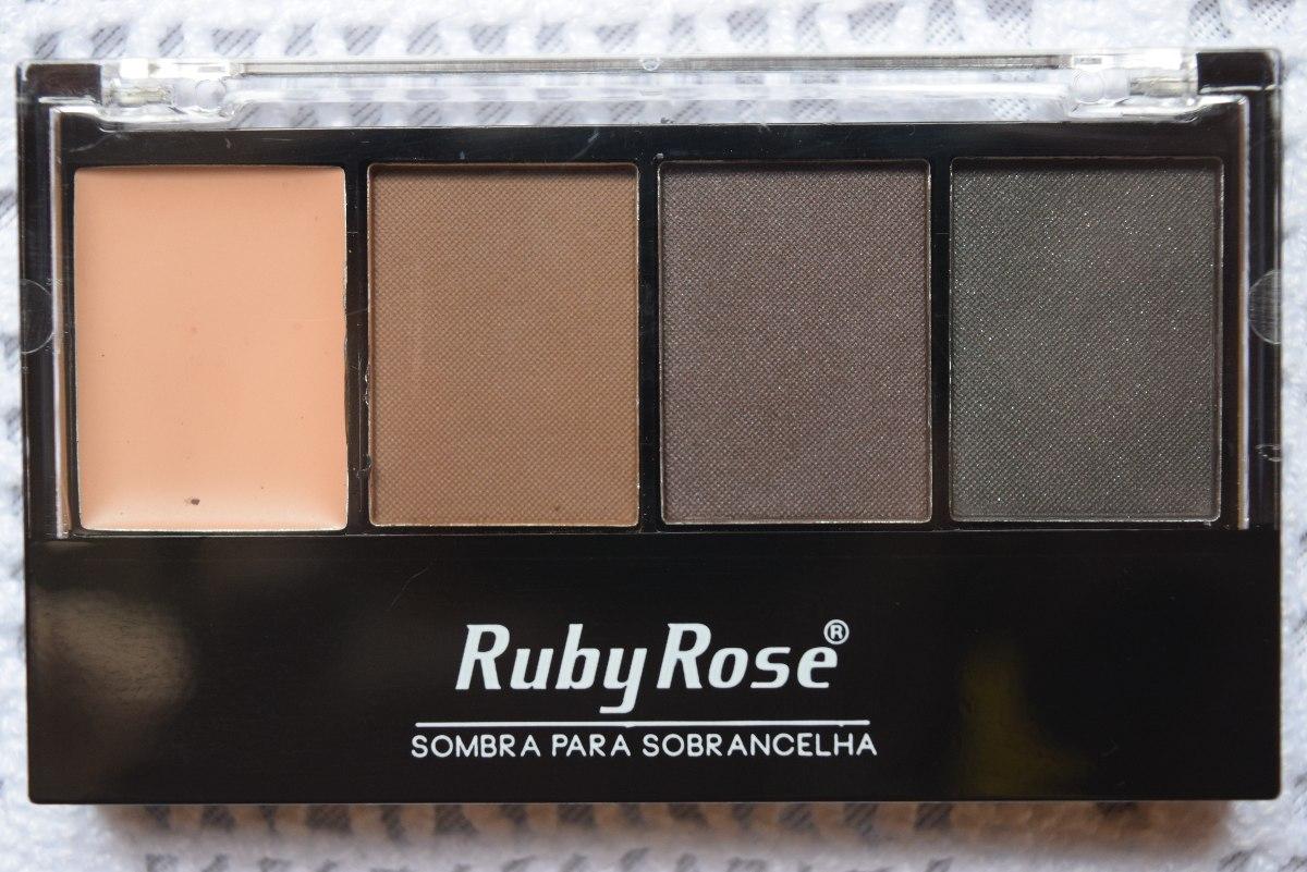 Trio De Sombra Para Sobrancelha Com Primer Ruby Rose R