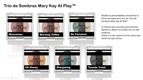trío de sombras mary kay at play