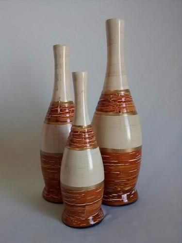 trio de vasos decoração arranjo enfeite promoção