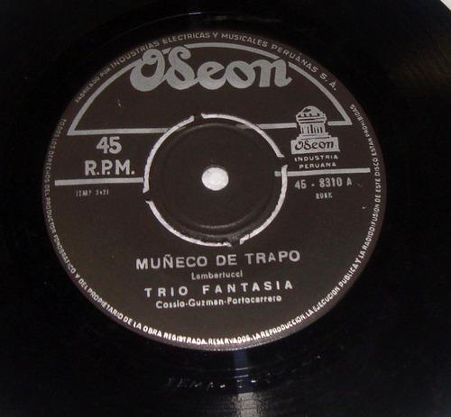 trio fantasia muñeco de trapo / adelante simple peruano
