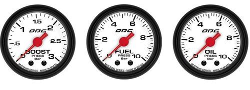trio manometro de oleo, turbo e combustivel odg mustang