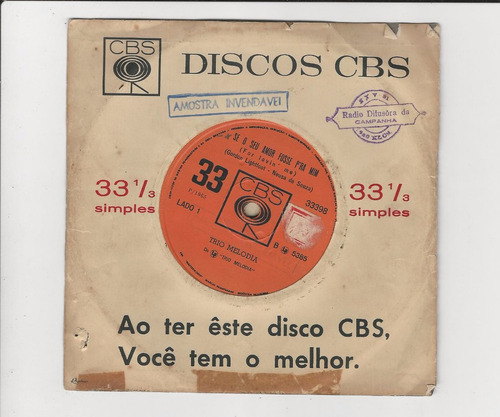trio melodia 1965 se o seu amor fosse pra mim compacto ep 17
