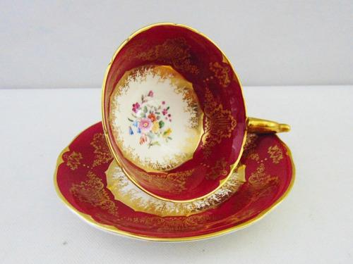 trio para té de porcelana inglesa coalport mappin & webb