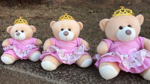 trio urso para nicho luxo 15cm 20cm 25cm / 5 cores